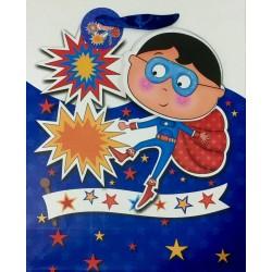 PAPER BAG LARGE - WONDER BOY BLUE (PACK OF 12)