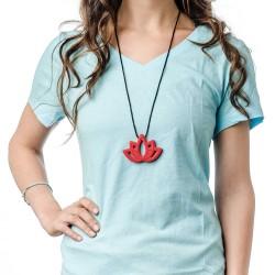 Nixi Teething Necklace / Lotus / Red