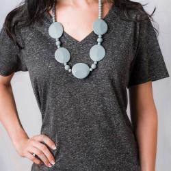 Nixi Teething Necklace / Pietra / Grey