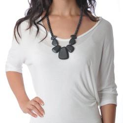 Nixi Teething Necklace / Rocca / Onyx