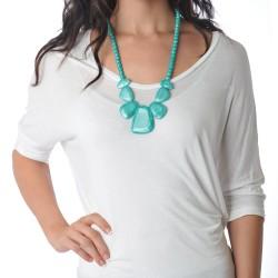 Nixi Teething Necklace / Rocca / Aquamarine
