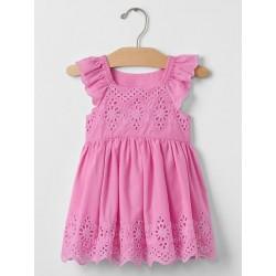 Gap Eyelet Flutter Dress