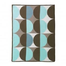 DwellStudio Graphic Knit Blanket - Geo Blue