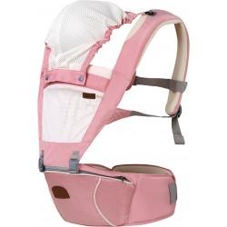 BeBear 5-in-1 Mesh Hip Seat Carrier - Pink
