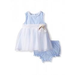 Laura Ashley Girl's Chambray & Tulle Dress