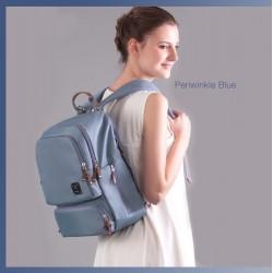BeBear Bennett Diaper Backpack - Periwinkle Blue