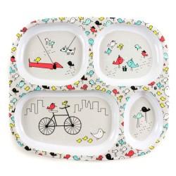 Bumkins Melamine Divided Plate