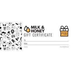 Milk & Honey Gift Certificate - P100.00